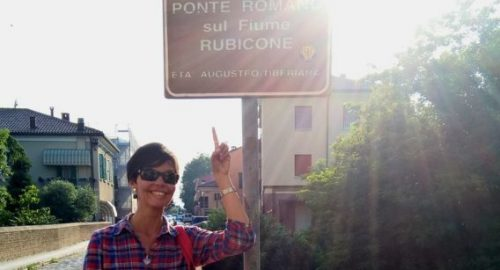 Maria Arruda, guia em Roma e na Emília-romanha