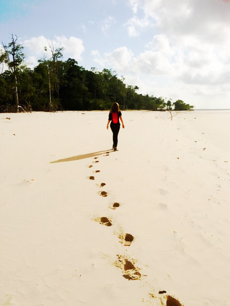 Praia deserta onde foi gravado o programa da Globo, No Limite.