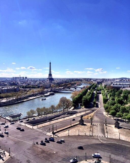A Torre Eiffel vista pela Roda Gigante