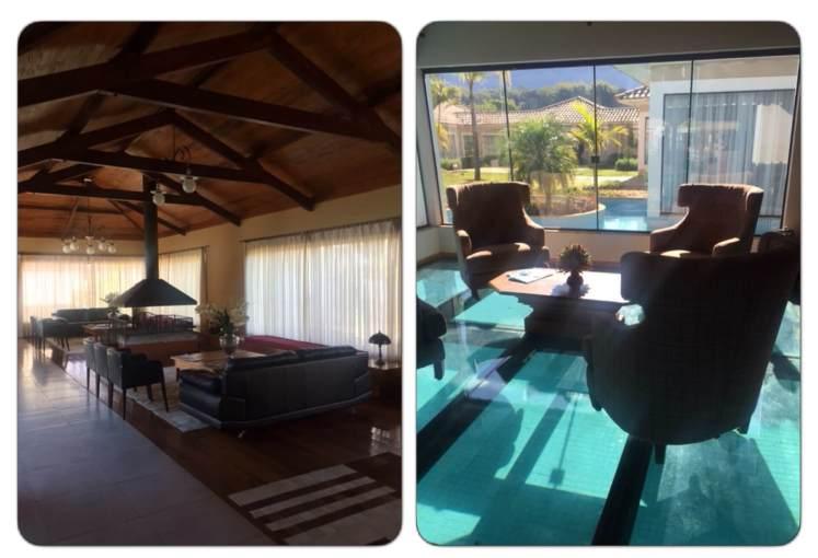 Duas salas do Resort, sendo uma delas sobre parte da piscina.