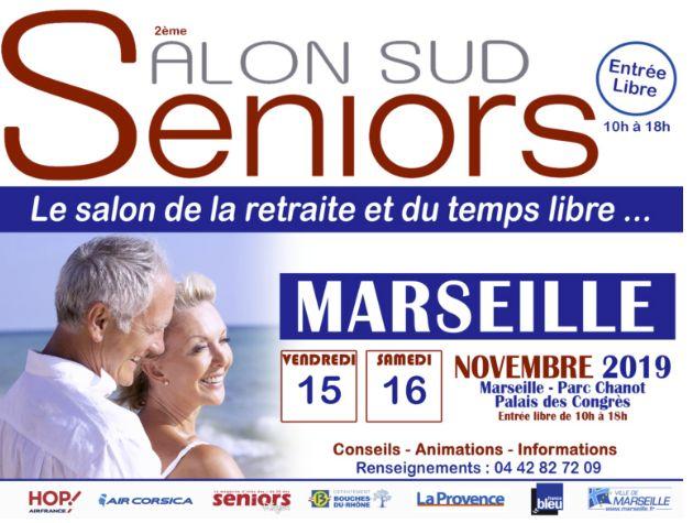 Affiche du Salon des Seniors de Marseille du 15 au 16 novembre 2019