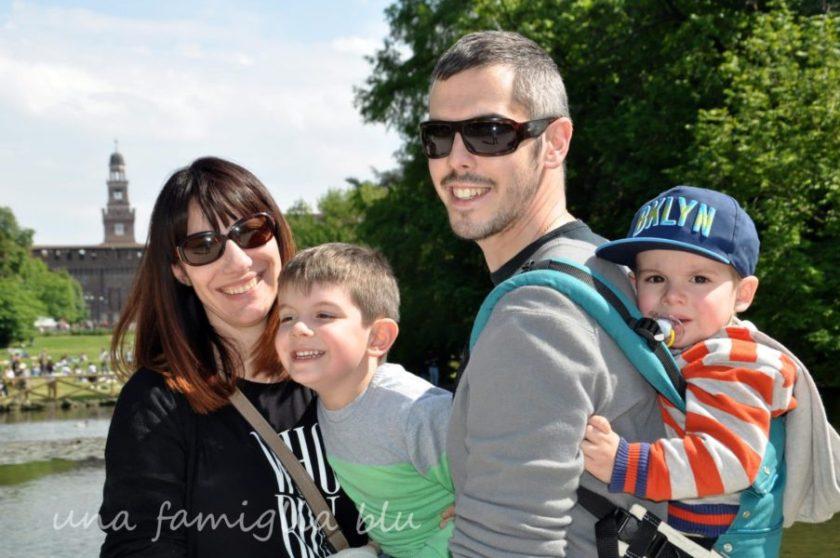 Milano con bambini - una famiglia blu