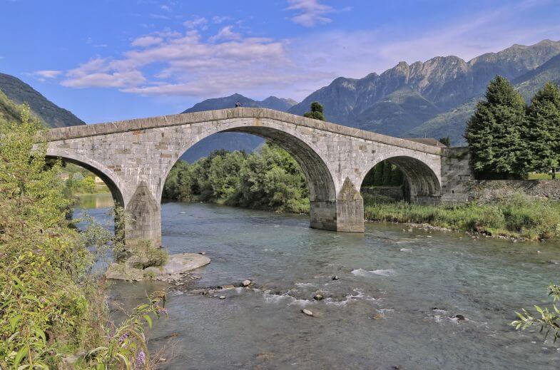 Fiume Adda, Valtellina