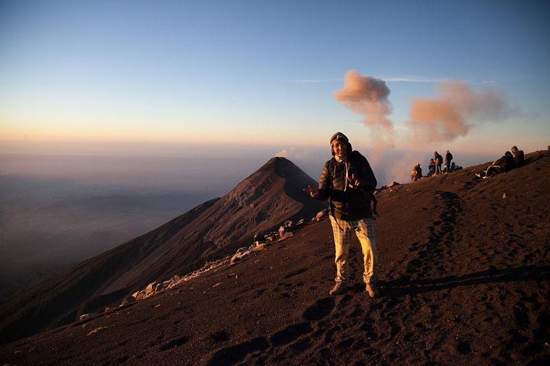 Camping vulcano attivo