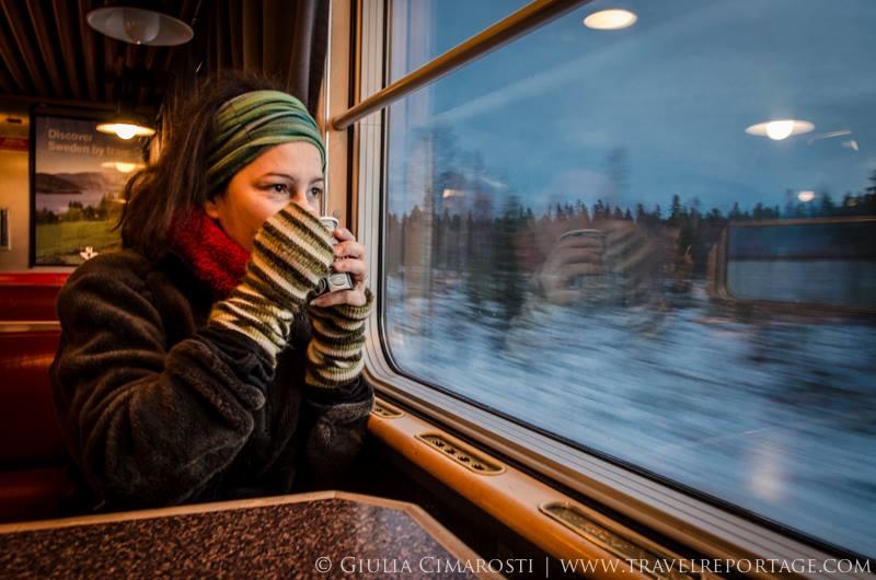 Viaggiare in treno in Lapponia