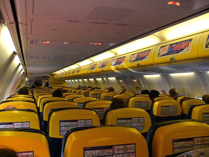 Cabina di un Boeing 737-800