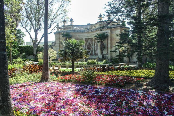 Dettaglio di San Anton Gardens a Malta