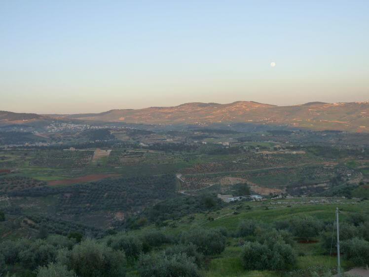 Paesaggio sulle colline di Jerash