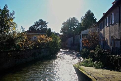Scorcio sul fiume lambro