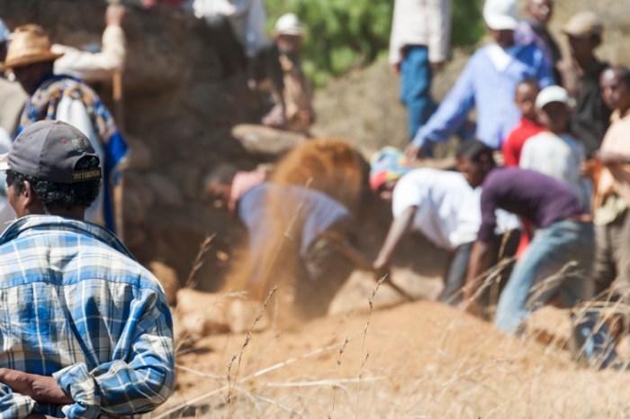 Madagascar Famadihana Watching the Digging