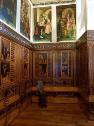 Lo Studiolo di Federico da Montefeltro nel Palazzo Ducale di Gubbio, ricostruzione