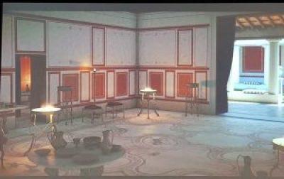 Villa dei Mosaici di Spello, Sala del Triclinio, ricostruzione virtuale
