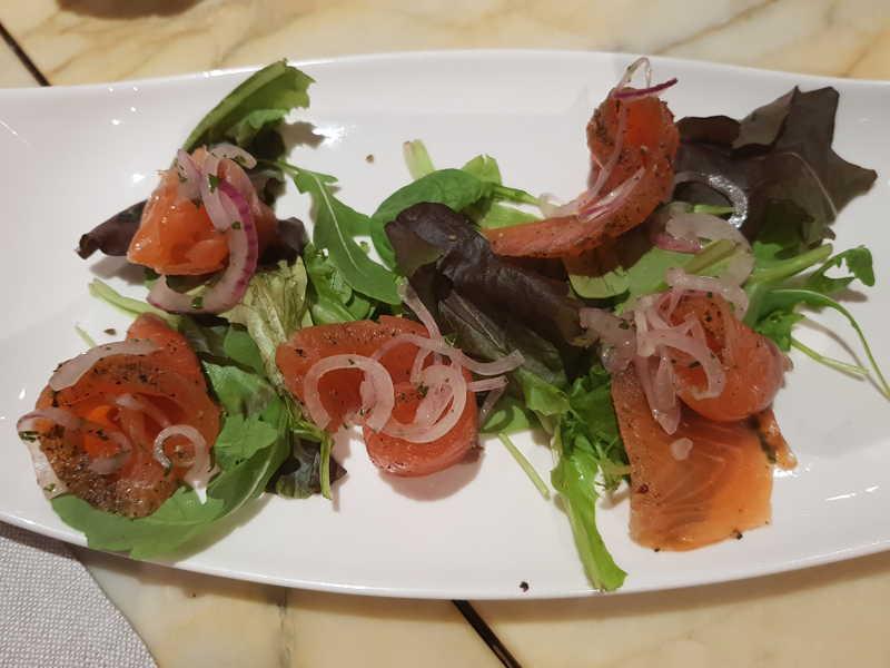 Antipasto di salmone