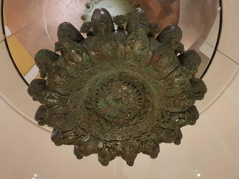 Lampadario etrusco al Maec