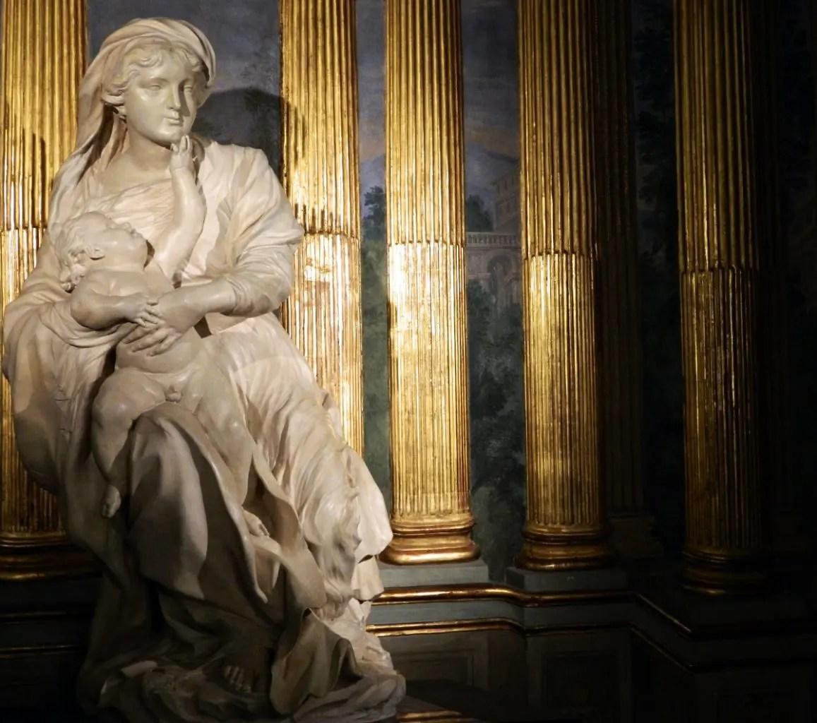 Madonna con il bambino, Palazzo Tobia Pallavicino.