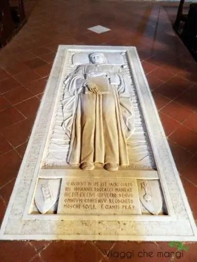 tomba del boccaccio a certaldo.