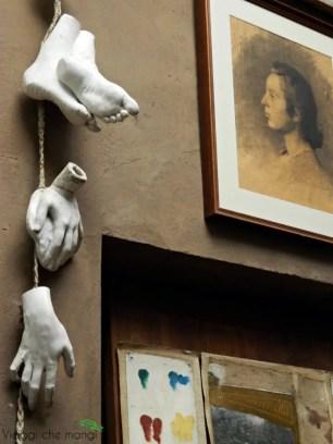 dettagli all'interno della casa museo pellizza da volpedo.