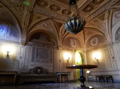 Atrio di Villa Poggio a Caiano, una delle ville medicee da visitare.