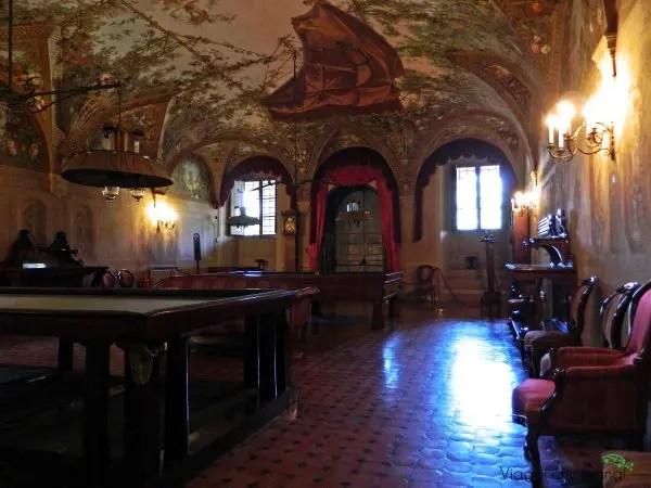 La sala da gioco della villa poggio a caiano, una delle ville medicee che ti consiglio di visitare.