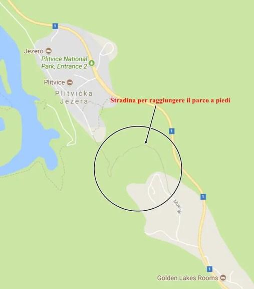 mappa_Laghi_di_Plitvice_strada_a_piedi
