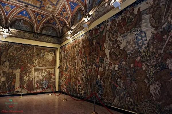 Arazzi di Alessandro Magno, Villa del principe Genova.