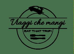 Il logo del travel blog Viaggi che mangi di Selene Scinicariello in bianco e nero