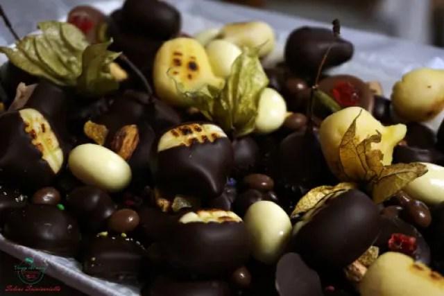 Vassoio di cioccolatini, Antica Cioccolateria Viganotti, Genova dipinti autunnali