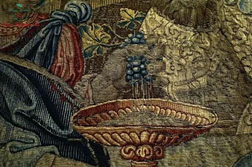 Dettaglio arazzo di Gennaio, Villa del Principe, Genova dipinti autunnali
