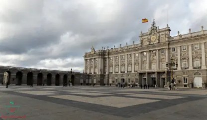palacio real di madrid.