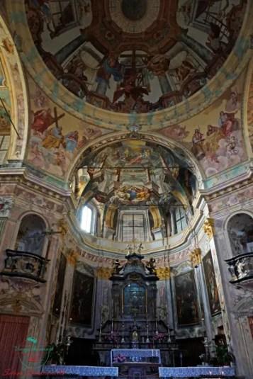 Interni del Santuario della Madonna del Sasso, Lago d'Orta.