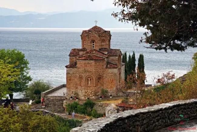 cosa vedere sul lago di ohrid: la chiesa di Sveti Jovan Kaneo