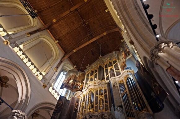 Organo della De Nieuwe Kerk, chiesa da inserire nell'itinerario per visitare amsterdam in 4 giorni