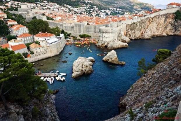 cosa vedere a dubrovnik: il forte Lovrijenac e la vista su Dubrovnik