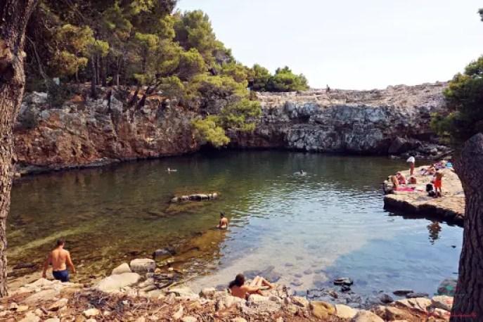 mar morto dell'isola di lokrum.
