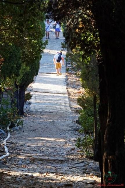 il sentiero del paradiso sull'isola di lokrum.