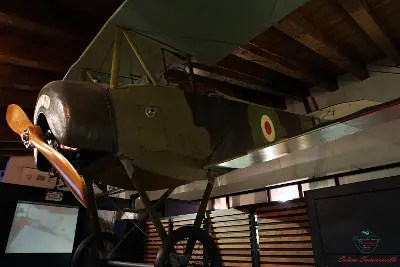 cosa vedere a rovereto: l'Aereo italiano Nieuport 10 conservato al Museo della Guerra di Rovereto..