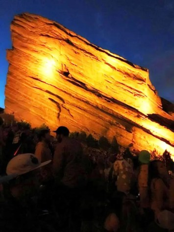 Concerto a Red Rocks, vicino alla città di Denver in Colorado. © Kara Patterson.