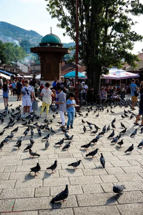 Cosa vedere a Sarajevo: La fontana Sebilj nel centro della Baščaršija.