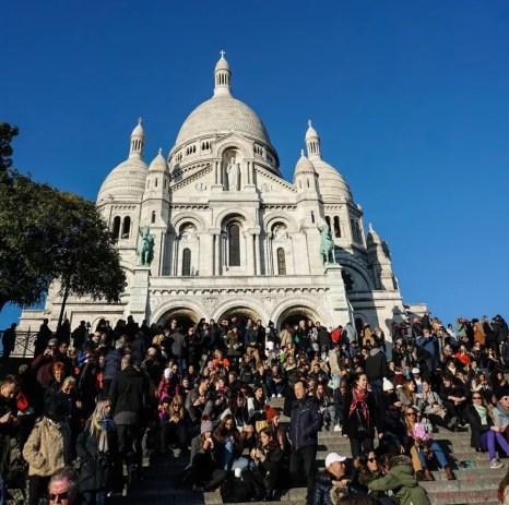 La Basilica del Sacro Cuore a Parigi.