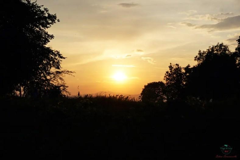 tramonto dentro la fortezza di Niš