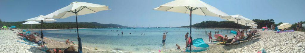 Sakarun beach panoramica, Dugi Otok, Croazia
