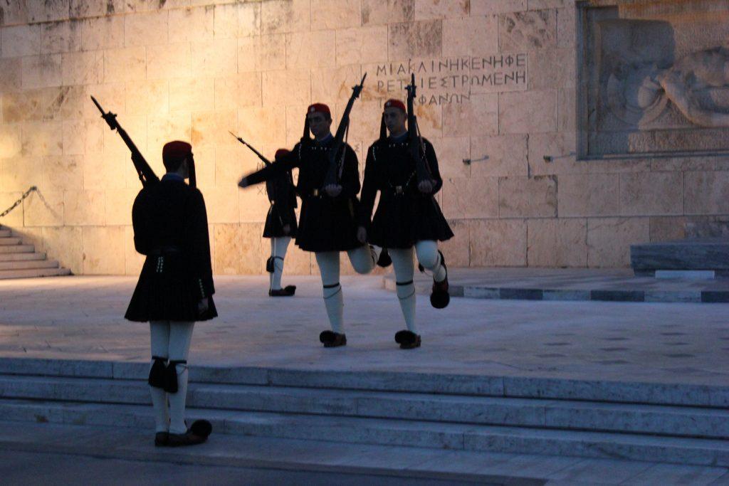 Il cambio della guardia di Piazza Syntagma, Atene