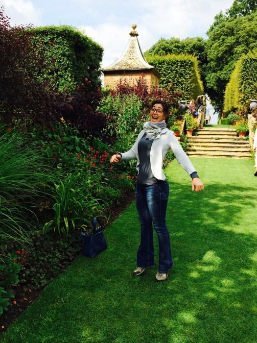 Erica felice a Hidcote!