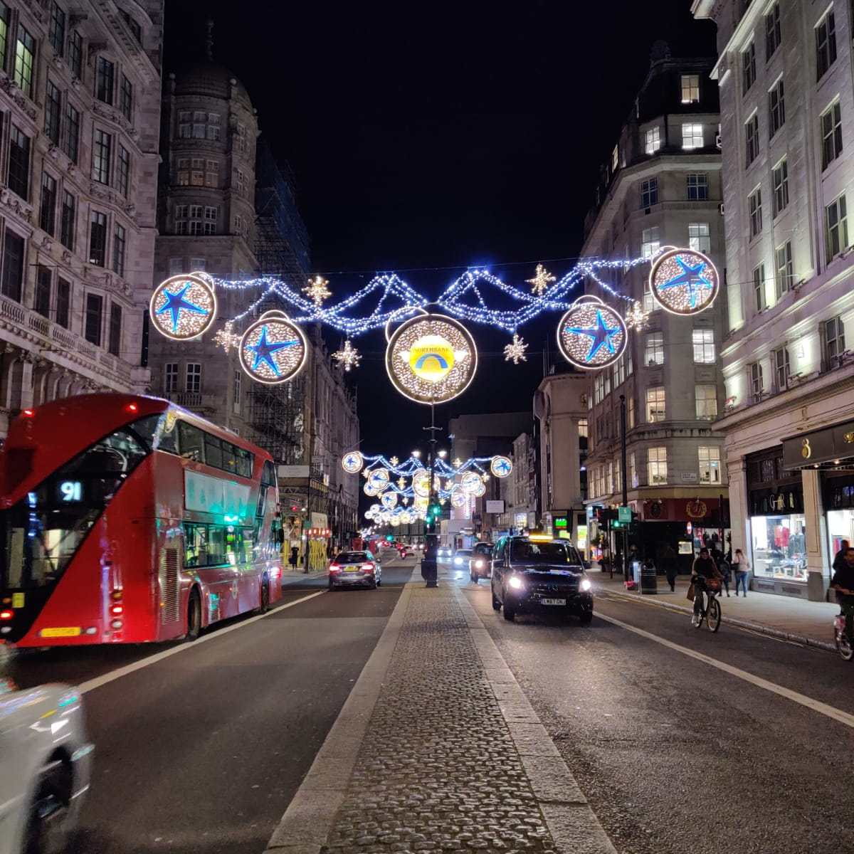 Luci natalizie a Oxford Street