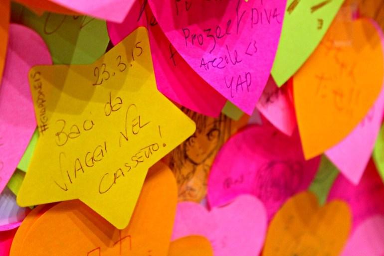 Post-it lasciato a Tokyo, in Giappone