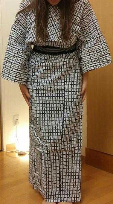 Lo Yukata, il pigiama giapponese, indossato