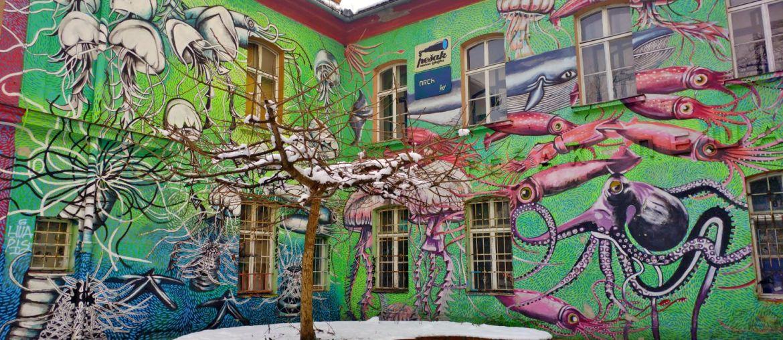 Street art a Lubiana: il Quartiere Metelkova