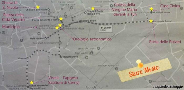 itinerario-stare-mesto praga map