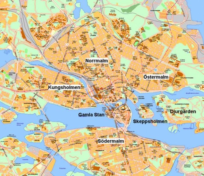 quartieri di stoccolma map