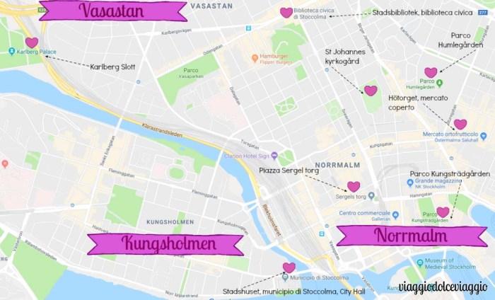 vasastan norrmalm kungsholmen Stoccolma Stockholm map